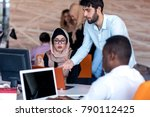 young business people working... | Shutterstock . vector #790112425
