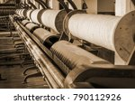 old 1900s woolen mill machinery ... | Shutterstock . vector #790112926