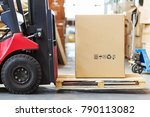 part of a forklift in the form... | Shutterstock . vector #790113082