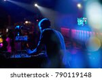 dj performs in a nightclub at a ... | Shutterstock . vector #790119148