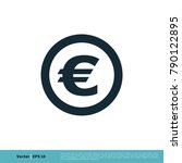 currency sign  euro money icon...   Shutterstock .eps vector #790122895