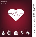 cardiology icon with heart and... | Shutterstock .eps vector #790126696