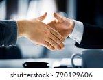 business men handshake | Shutterstock . vector #790129606