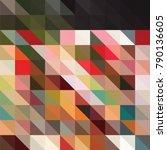 triangle vector background | Shutterstock .eps vector #790136605