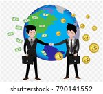 bitcoin concept payment and... | Shutterstock .eps vector #790141552