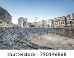 ancient amphitheater in city... | Shutterstock . vector #790146868