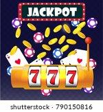 jackpot win  vector... | Shutterstock .eps vector #790150816