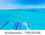 view off the back of a boat... | Shutterstock . vector #790153198