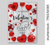 valentine's day party... | Shutterstock .eps vector #790156585