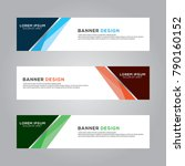 abstract banner background... | Shutterstock .eps vector #790160152