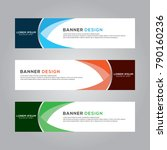 abstract banner background... | Shutterstock .eps vector #790160236