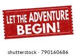 let the adventure begin grunge... | Shutterstock .eps vector #790160686