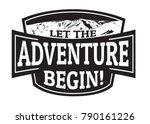 let the adventure begin emblem... | Shutterstock .eps vector #790161226