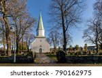 White Wooden Church Seen From...