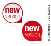 new version label tag red | Shutterstock .eps vector #790163035