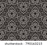 intersecting curved elegant... | Shutterstock .eps vector #790163215