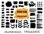 brush strokes text boxes.... | Shutterstock .eps vector #790163455