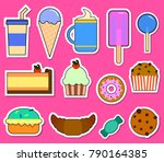 party big set with different... | Shutterstock .eps vector #790164385