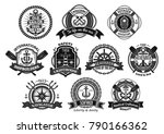 marine seafarer or sailor... | Shutterstock .eps vector #790166362