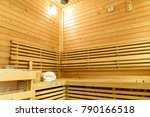 sauna room with traditional... | Shutterstock . vector #790166518