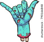 Severed Zombie Hand Making The...