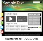 modern web page design   Shutterstock .eps vector #79017298