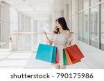 beautiful young happy asian... | Shutterstock . vector #790175986