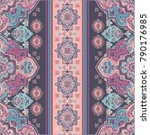 indian rug paisley ornament... | Shutterstock .eps vector #790176985