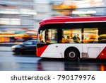 picture of a bus in city... | Shutterstock . vector #790179976