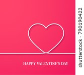 happy valentines day card.... | Shutterstock .eps vector #790190422