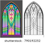 colorful and black and white... | Shutterstock .eps vector #790192252