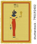 papyrus with the image of... | Shutterstock .eps vector #790192402