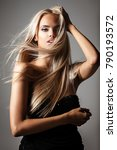 hairstyle  haircare and fashion ... | Shutterstock . vector #790193572