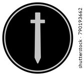 symbolic sword black coin icon. ... | Shutterstock .eps vector #790193662