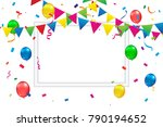 celebration event   happy... | Shutterstock .eps vector #790194652