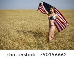 young beautiful blonde woman in ... | Shutterstock . vector #790196662