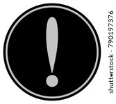 exclamation sign black coin... | Shutterstock .eps vector #790197376