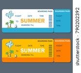 boarding pass vector invitation   Shutterstock .eps vector #790202392