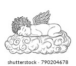 cupid art highly detailed in... | Shutterstock .eps vector #790204678