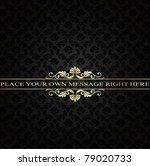 golden vintage frame on damask... | Shutterstock .eps vector #79020733