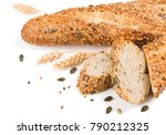 baguettes bread whole and... | Shutterstock . vector #790212325