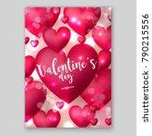 valentine's sale banner red... | Shutterstock .eps vector #790215556