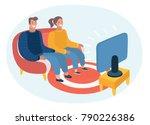 vector cartoon illustration of... | Shutterstock .eps vector #790226386