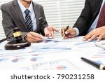 colleagues are discussing... | Shutterstock . vector #790231258