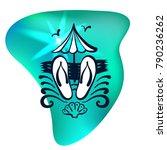 logo for travel agency.... | Shutterstock .eps vector #790236262