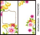 vintage delicate invitation... | Shutterstock . vector #790240585