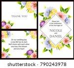 vintage delicate invitation... | Shutterstock . vector #790243978