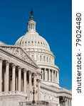 Stock photo close up view of us capitol building washington dc taken from southeast in early fall morning 79024480