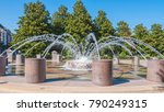 Fountain At Waterfront Park In...