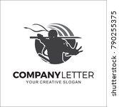 ninja design logo | Shutterstock .eps vector #790255375